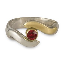 Donegal Eye Engagement Ring in Ruby