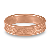 Bordered Felicity Wedding Ring in 14K Rose Gold
