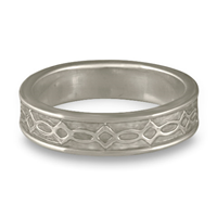 Bordered Felicity Wedding Ring in Palladium
