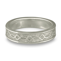 Bordered Felicity Wedding Ring in Platinum