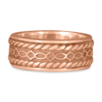 Felicity Twist Wedding Ring in 14K Rose Gold