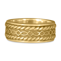 Felicity Twist Wedding Ring in 14K Yellow Gold
