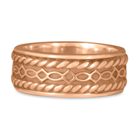 Felicity Twist Wedding Ring in 18K Rose Gold