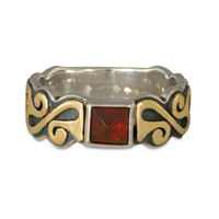 Madelaine Ring in Garnet