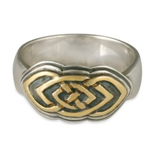Skyler Ring in 14K Yellow Gold Design w Sterling Silver Base