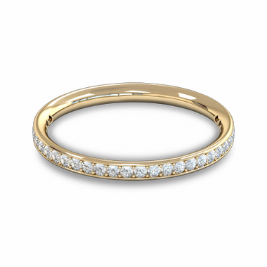 Fairtrade Gold Diamond Grain Set Eternity Ring in 18K Yellow Gold