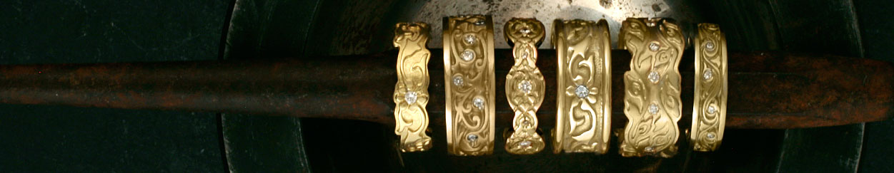 Gold Wedding Bands with Diamonds